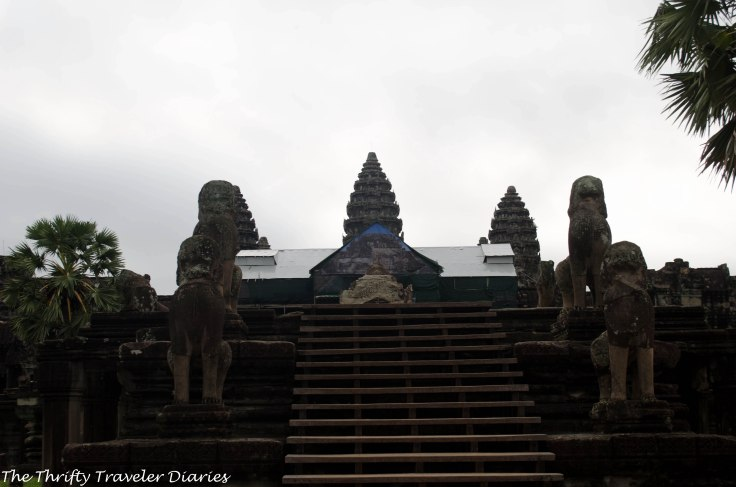 Some parts of Angkor Wat were still being restored
