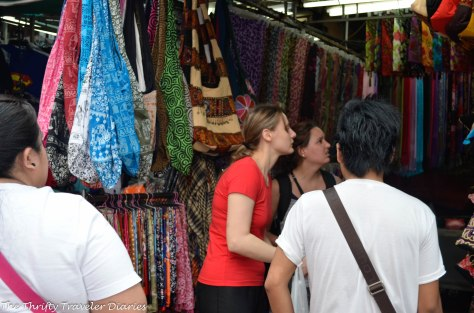 Tourists looking for something to buy as souvenirs