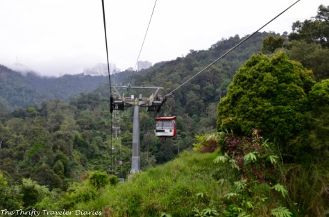 Cable cars going to Genting