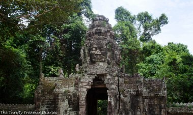 Faces on temples