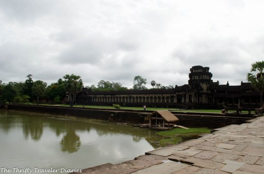 Angkor Wat overlooking the lake