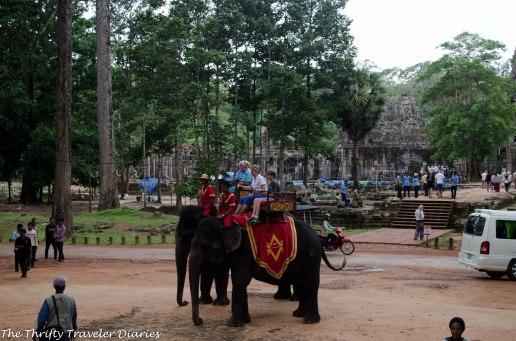 Other tourists enjoying the elephant ride