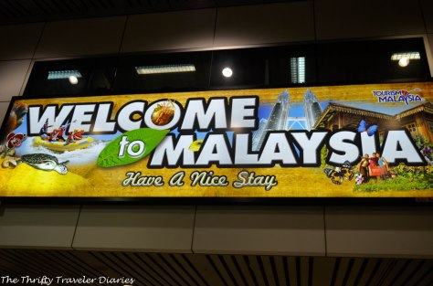 A welcome sign at the airport