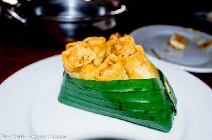 A version of spring rolls