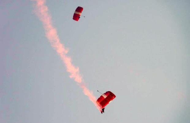 More skydivers and stunts
