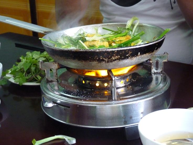 Preparing grilled fish