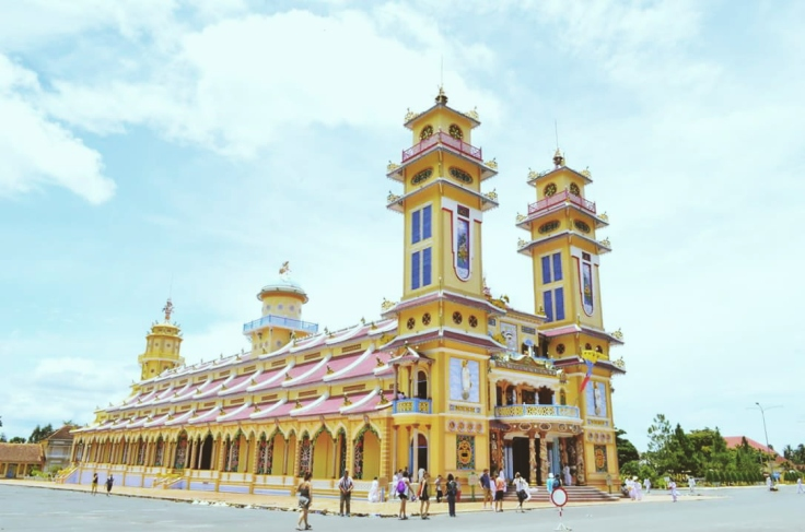 Cao Dai Temple has a unique architecture