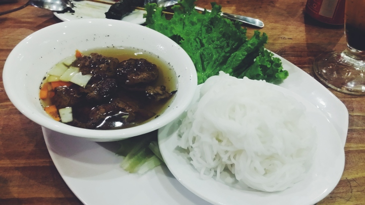 Bun cha is a must-try when in Vietnam