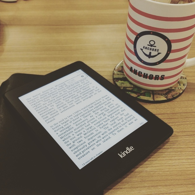 I enjoy starting the day with a hot drink and a good book