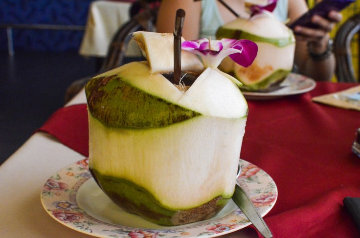 Fresh coconut water! I can never say no to this!