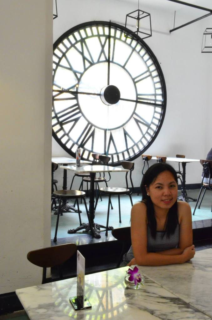 Me with the popular and beautiful clock/window