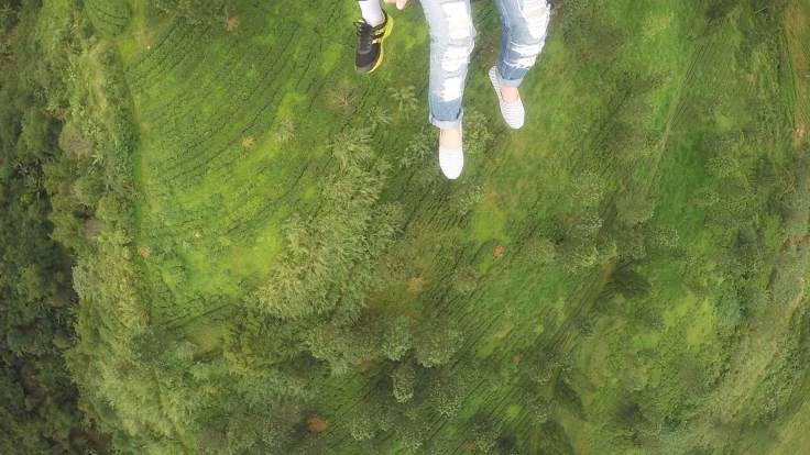 Hundreds of feet off the ground